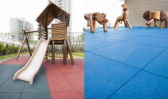 Imagem playground com piso emborrachado no RJ