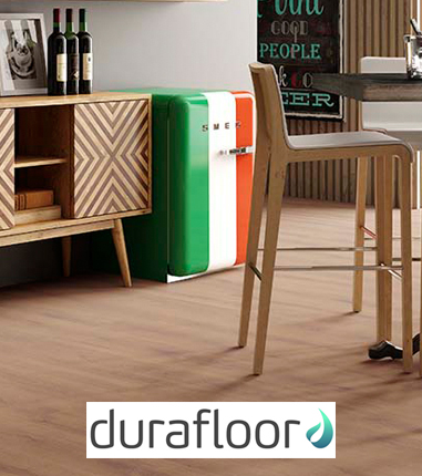 Sala com piso vinilico Durafloor